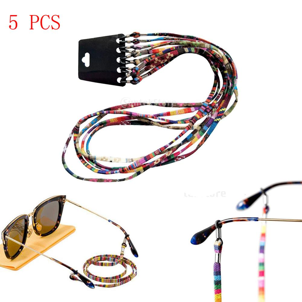 5pcs 10 pcs Boho Sunglasses Cord Strap Chain Reading Glasses String Eyeglass Lanyard Holder for Women Men zonnebril koord in Eyewear Accessories from Apparel Accessories