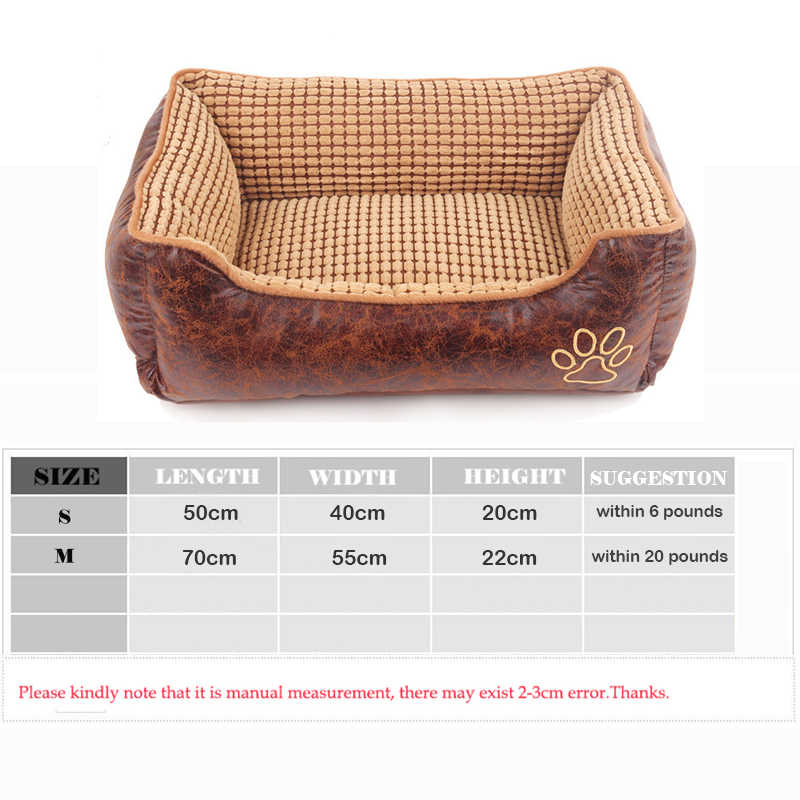 Winter Dog Cat Pet Bed House Retro PU Leather Pets Sofa Kennel Warm  Detachable Doghouse For Cat Puppy Animals Soft Bed In Houses, Kennels U0026  Pens From Home ...