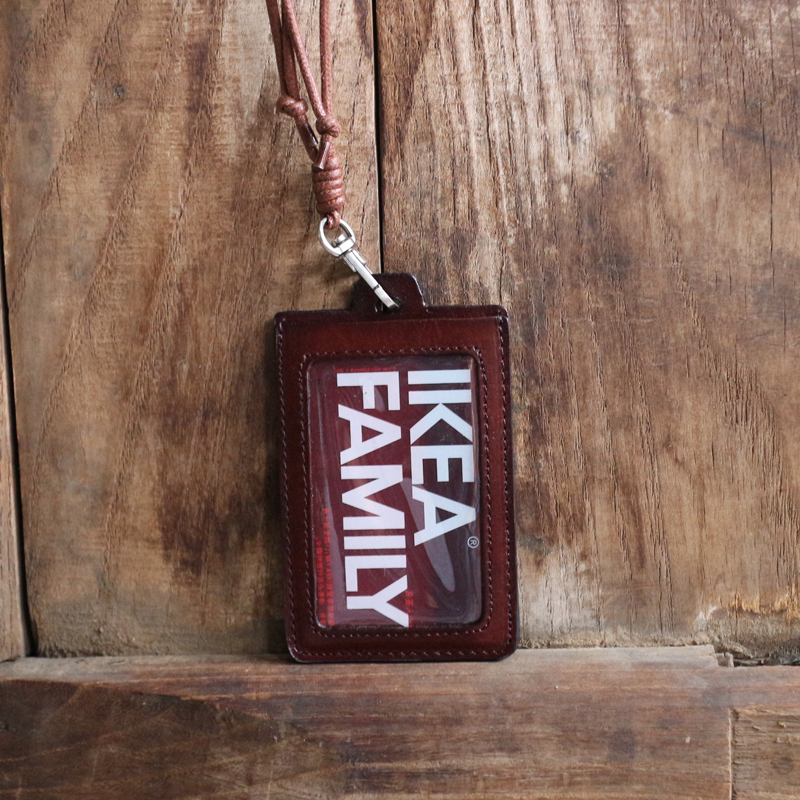 Äkta Läder Business ID / Badge Hållare Namn Märke ID-kort - Plånböcker - Foto 5