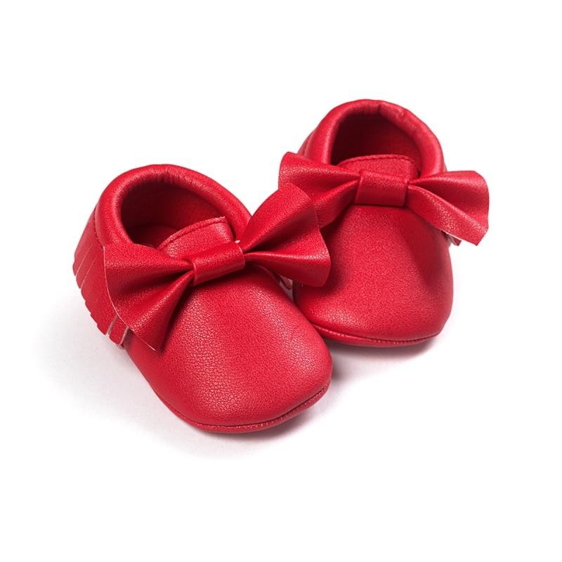 b42d49049 للجنسين اطفال رضع أحذية لينة سوليد شرابة بو الجلود سرير أطفال prewalker  القوس الأولى مشوا
