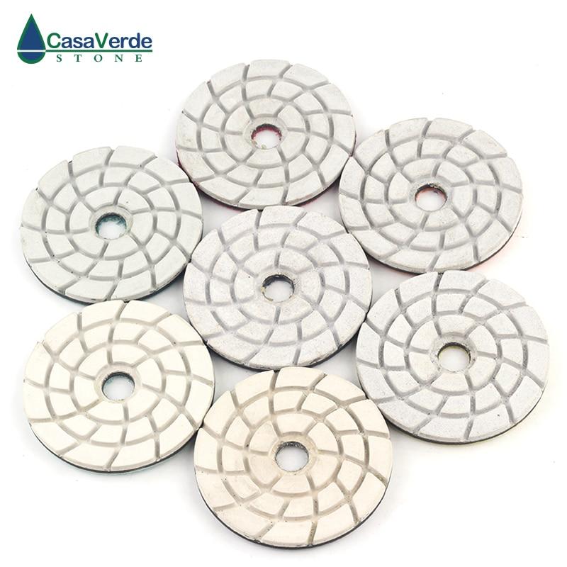DC-SDFL01 Diamond 4 Inch 100mm Granite Concrete Marble Floor Polishing Pads