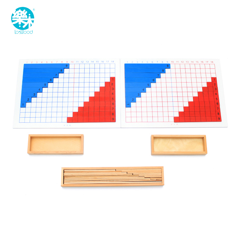 Montessori Education Wooden Toys Addition and subtraction Math Toy Teaching Kid Montessori aids Early Learning Gift baby montessori education toys dominos children preschool teaching aids counting and stacking board wooden arithmetic math toy