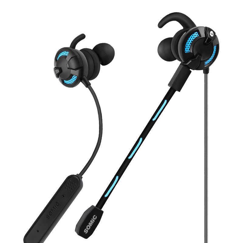 Somic G618PRO słuchawki bluetooth bezprzewodowy zestaw słuchawkowy do gier Stereo douszne Słuchawki sportowe dla komputer inteligentny telefon