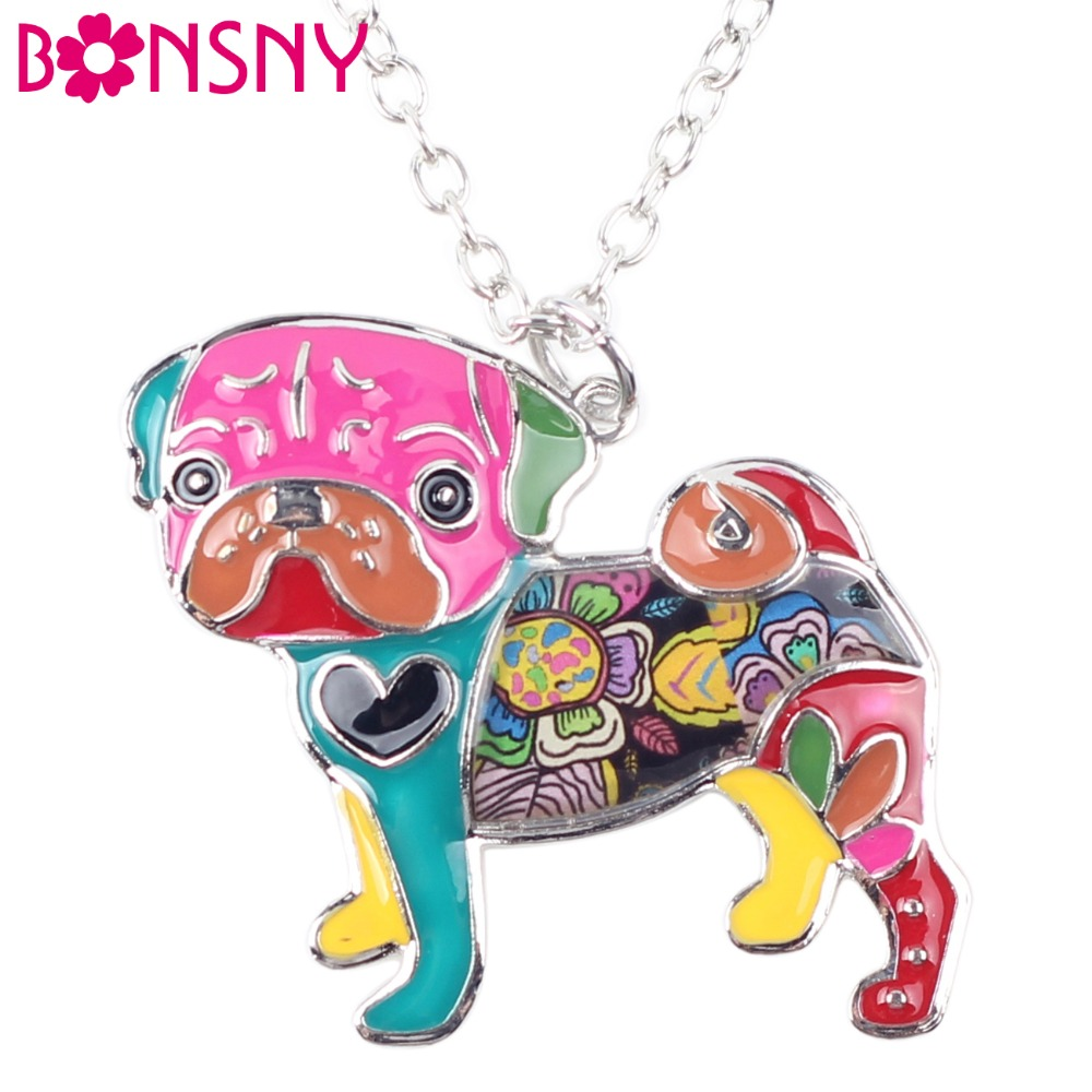 Pug Nose Dog - Fashion Jewelry Enamel Necklace