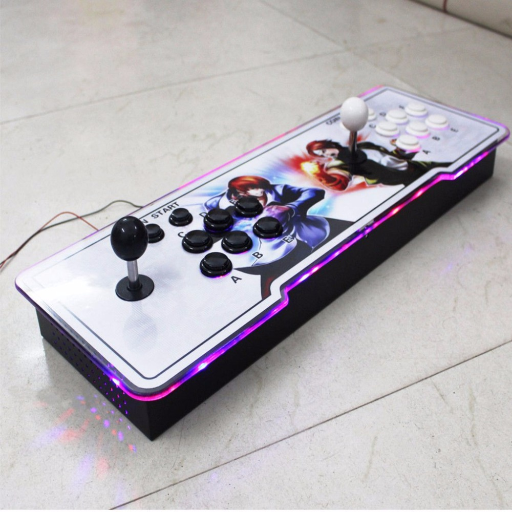800 in 1  Pandora's Box 4S TV jamma arcade game console With Double Joystick Button LED lighting With VGA + HIDMI dual Output arcade joystick gamepad kit 800 games in 1 video tv jamma 2 joystick vga hidmi metal double stick arcade console with 2players