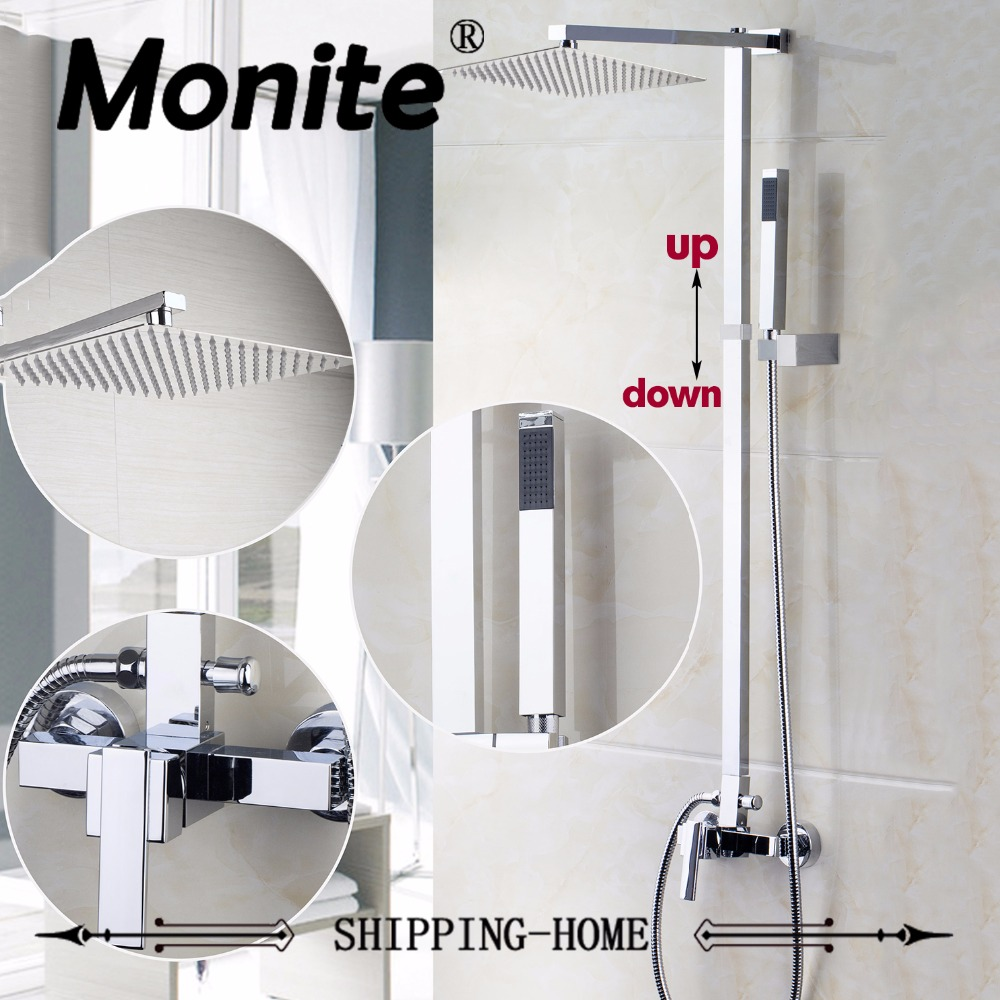 New Brand Wall Mounted Bathroom 8ABS Rainfall Shower Faucet Set Mixer Valve With Hand Shower Single Handle Sink Mixer Taps sognare new wall mounted bathroom bath shower faucet with handheld shower head chrome finish shower faucet set mixer tap d5205