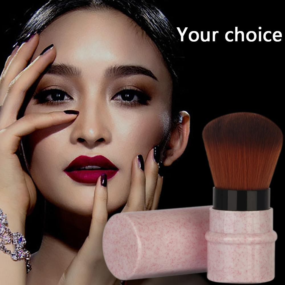 Professional Retractable Makeup Brush Powder Blush Foundation Face Brush for Travel