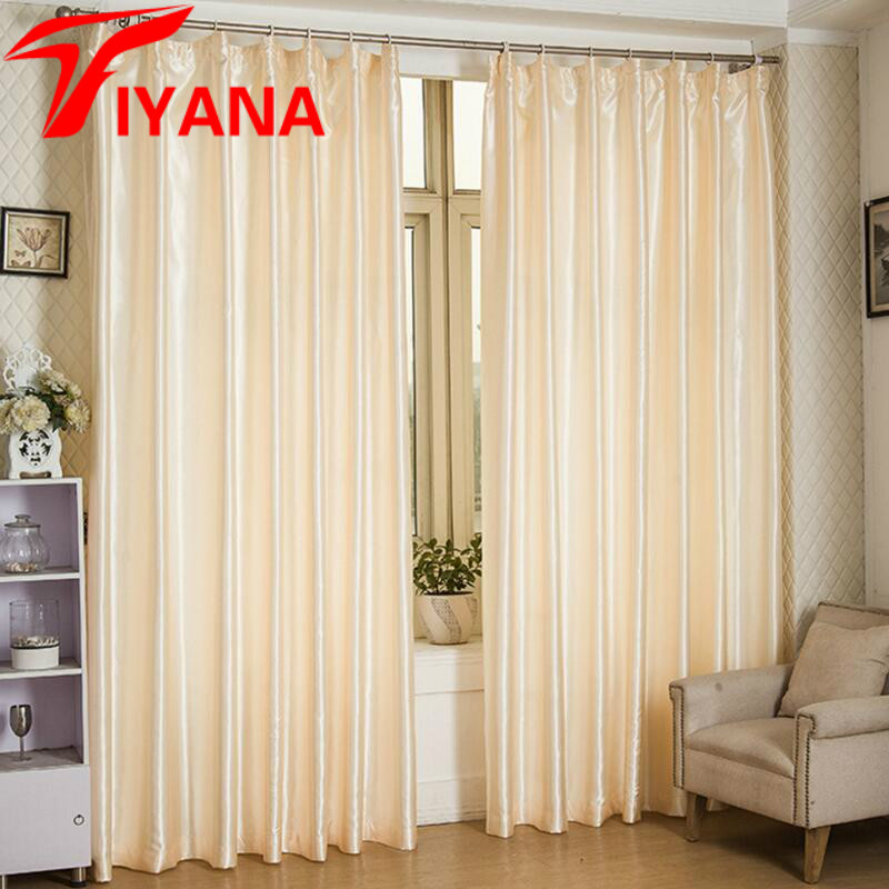 Solid Color Semi Shade Curtains For Living Room Lining