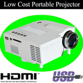 AliExpress Hot Selling Product Mini LED Projector Support Portuguest English Low Cost HDMI USB Portable Projectors Home