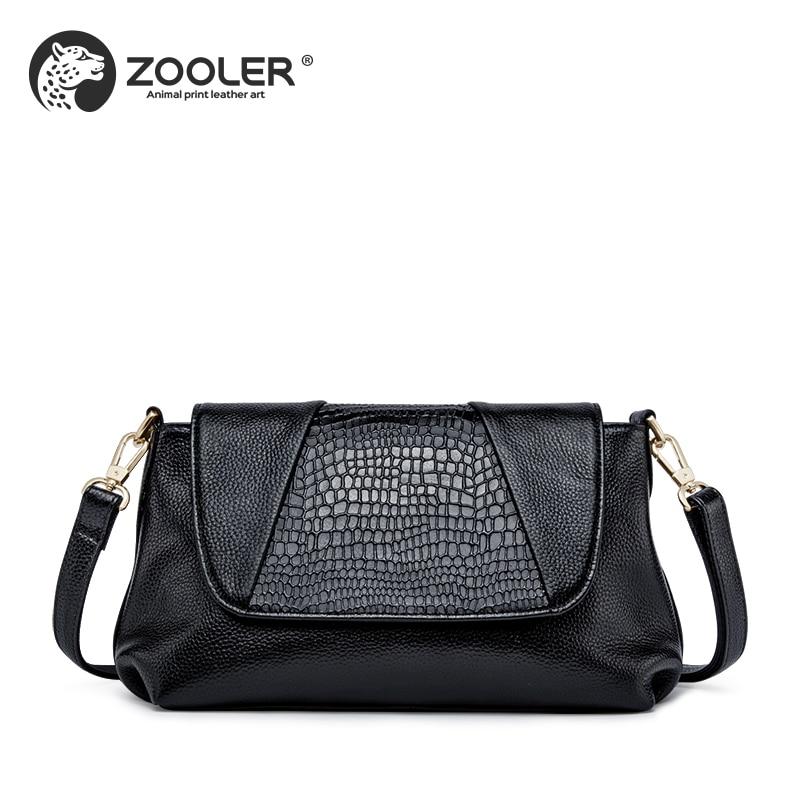 ZOOLER Mode Elegant Lederen vrouwen Handtassen Dames Schoudertassen Zwart Koe Lederen Zachte Crossbody Tas tote # L120 - 6