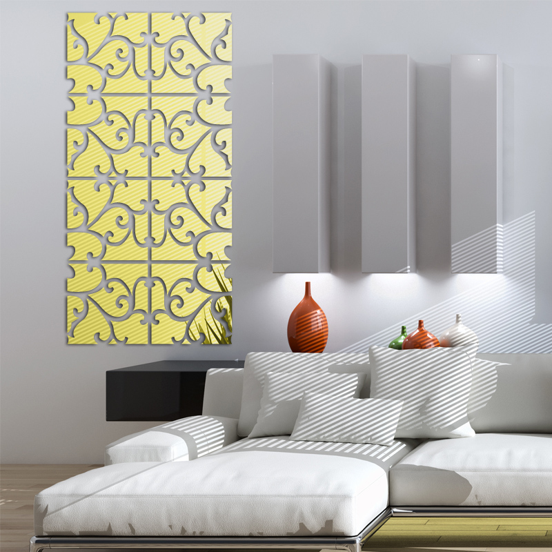 New Hot Large Acrylic Mirror Wall Stickers D Sticker Home - Wall decals mirror
