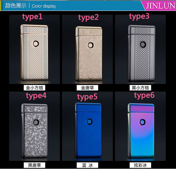 10pcs lot wholesale usb ultra thin windproof lighter Usb electronic creative cigarette lighters smoking accessary arc