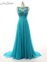 Vestido De Festa Beautiful Luxury Evening Dresses Vintage Long Beaded Sheer Scoop Neck Keyhole Back Prom Party Gowns