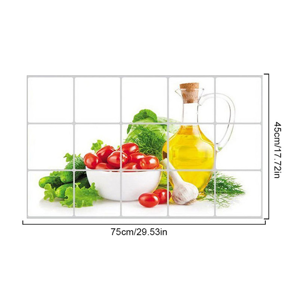 Self-Adhesive High-Temperature Anti-Grease Sticker PVC Transparent Fruit And Vegetable Kitchen Wallpaper Is Safe And Non-Toxic