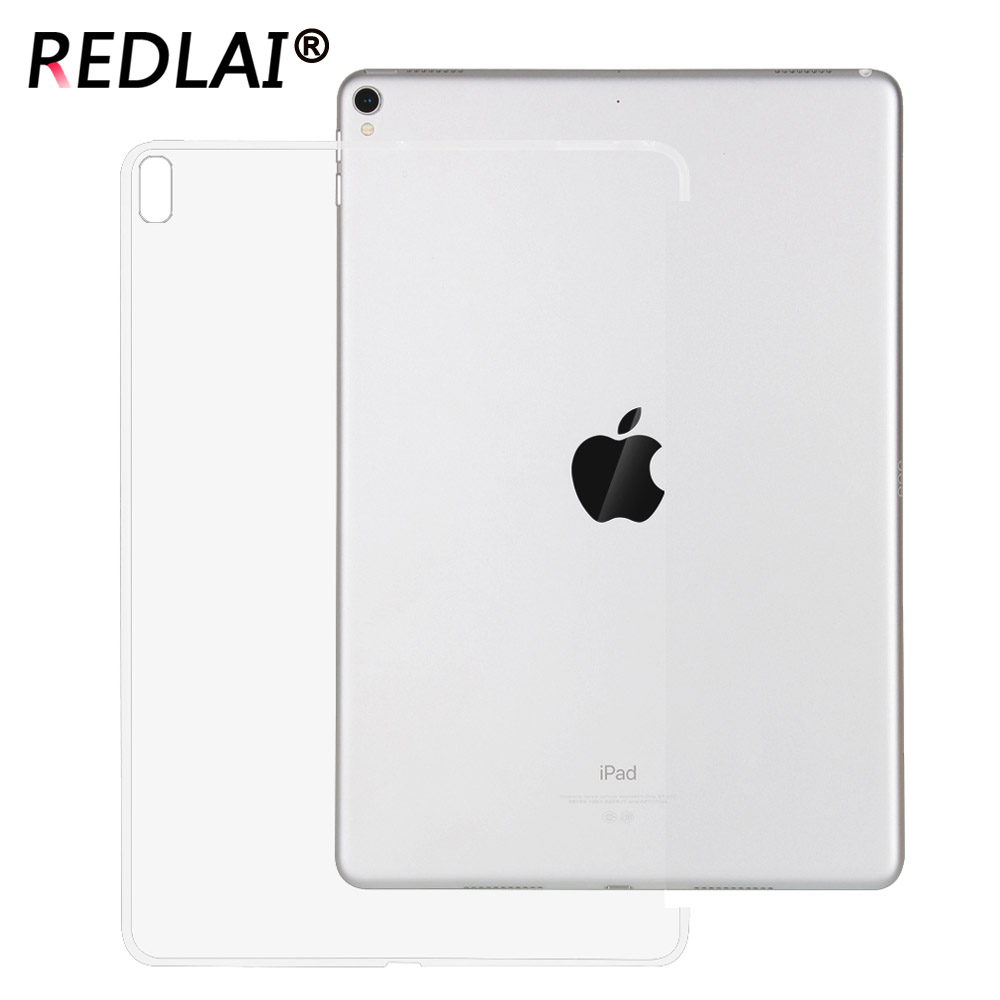 Redlai For iPad Pro 10.5 inch 2017, Clear Transparency trimming Side Soft TPU case for Ipad pro 10.5 inch 2017 A1701 A1709 redlai colors crystal clear laptop case