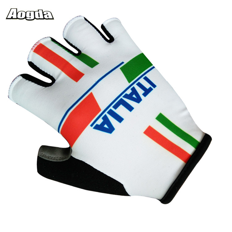 2018 Hot Sport Gloves Half Finger ITALIA Cycling Gloves Guantes Ciclismo GEL Pad MTB Road Mountain Bike Bicycle Gloves racmmer 2018 new arrival half finger cycling gloves nylon unisex sports gloves road mtb bicycle gloves guantes ciclismo cg 06