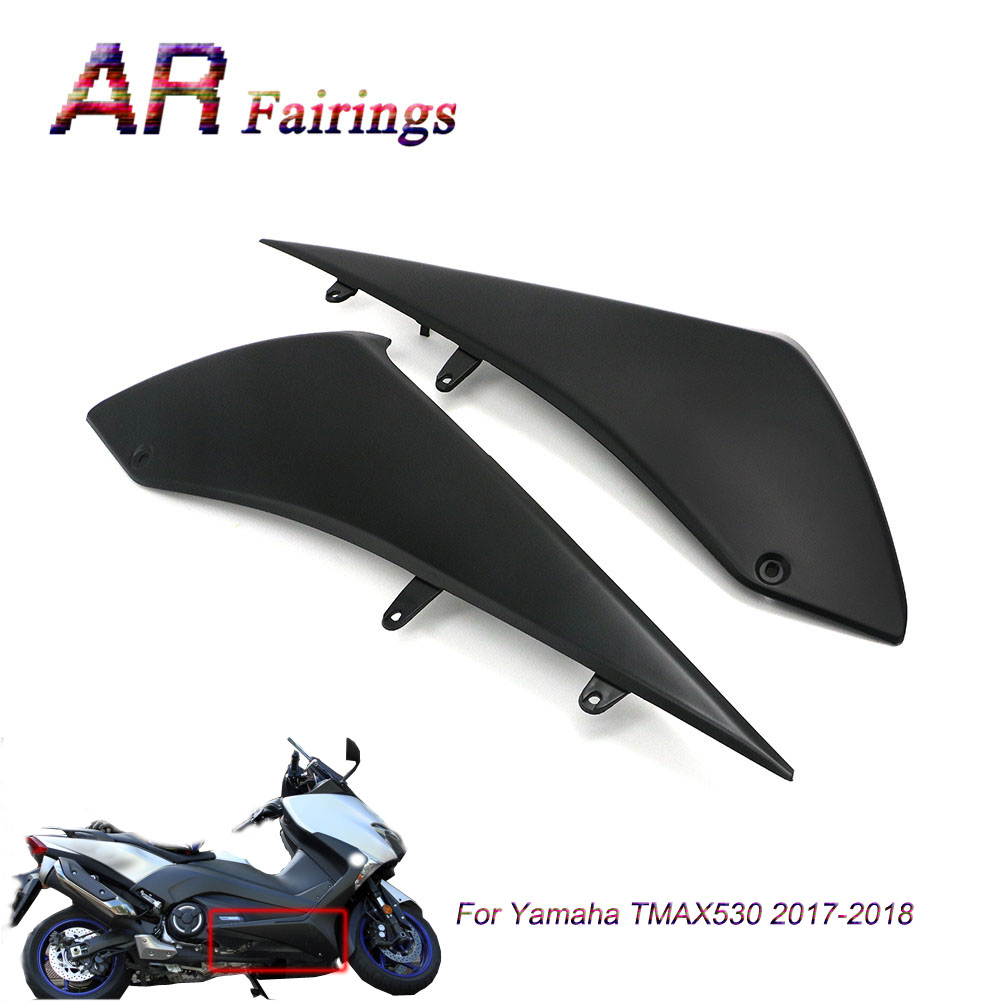 1 Pair Motorcycle Left Right Under Side Fairings Panel Black High Quality ABS Cover For Yamaha <font><b>T</b></font>-<font><b>MAX</b></font> TMAX <font><b>530</b></font> TMAX530 2017 <font><b>2018</b></font> image