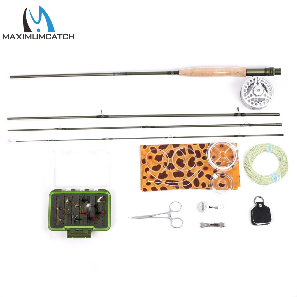 Maximumcatch Fly Fishing Rod Combo 9FT Fly Rod & 5wt Reel Fly Rod  Line Reel Combo maximumcatch fly fishing rod combo 9ft fly rod