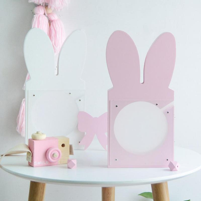 עץ מקסימים תיבת כסף קופה חיסכון אוזן ארנב ורוד שקוף בציר כסף קופסא מתנה לעיצוב שולחן הבית צעצועי ילדים 3