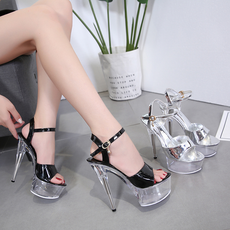 Platform Sandals Women Wedding Shoes 2019 New Flower Sexy High Heel15CM Platforms Sandals Crystal Lady's High Heels Sandals