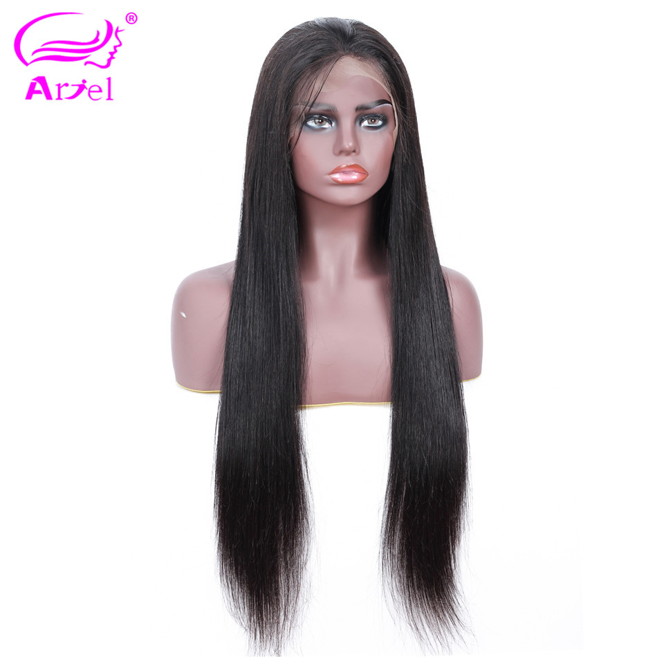 Straight Lace Front Wig 13  4 Lace Front Human Hair Wigs Baby Hair Indian Non Remy Glueless Lace Wigs Brown Lace Wig Human Hair-in Human Hair Lace Wigs from Hair Extensions & Wigs    2