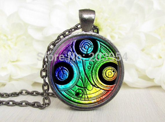 NEW Steampunk uk london doctor dr who rainbow Necklace chain 1pcs bronze silver Pendant Gravity Falls dw tadis time 2017 tardis
