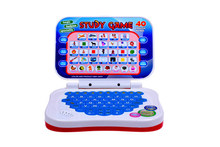 Children in both Chinese and English bilingual learning machine computer kid-learning to do morning reading baby educational