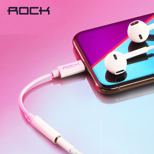 Image 5 - ROCK Lighting to 3.5 mm Audio Adapter Cable for Lightning 3.5mm Jack headphone Converter for iPhone 7 8 X Xs OTG AUX Adaptador