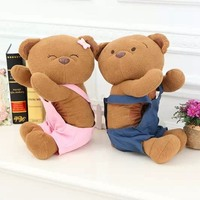 Plush Toy Creative Cartoon Couple Teddy Bear Doll Vehicle Tissue Paper Towel Home Decoration Children Stuffed