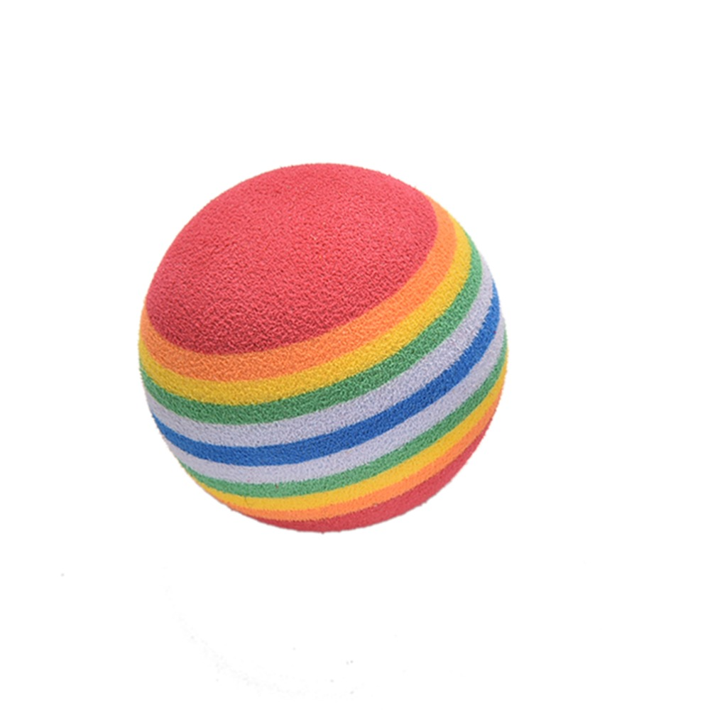 20 Pcs/lot Rainbow Stripe Sponge Foam Golf Training Balls Swing Practice Training Aids Ball Light-weight wholesale