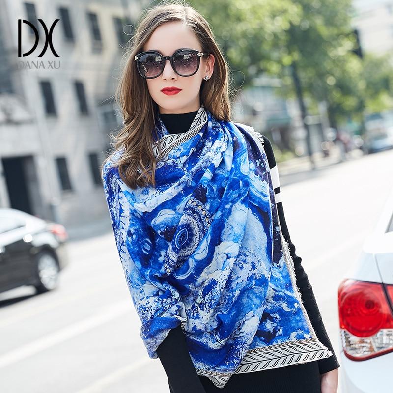 DANA XU 2019 Women Spring Scarves Warm Shawl Fashion Foulard Cashmere Feeling Femme Bandana Women Thicken