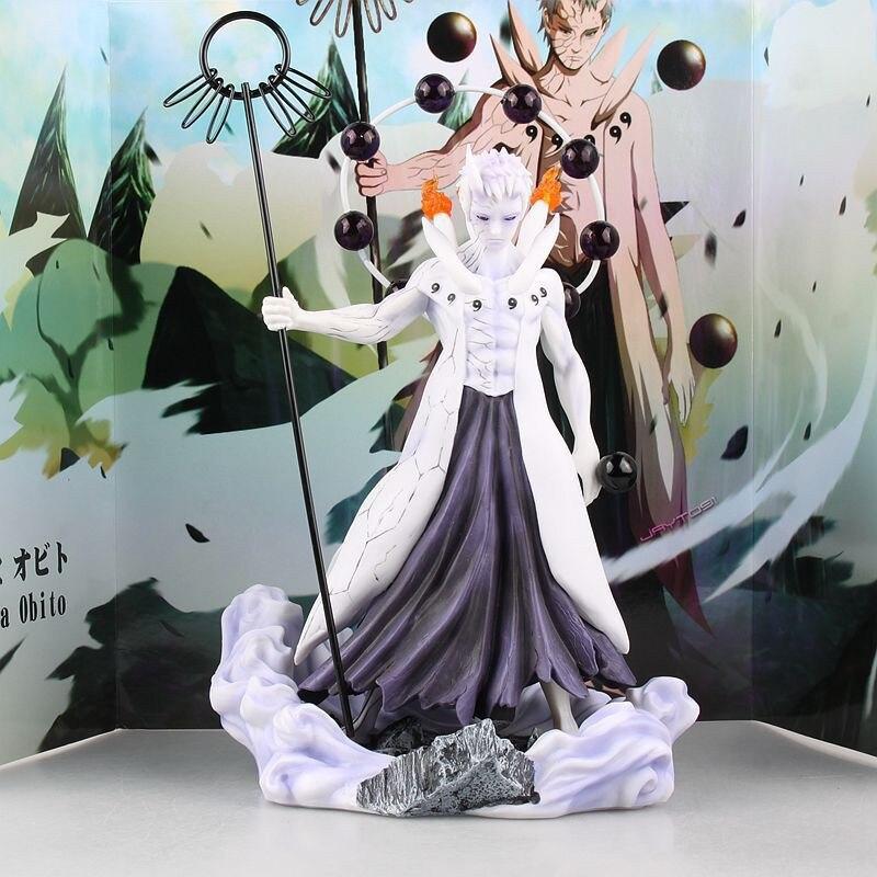1 pièces figurine d'action Anime Naruto figurines d'action de collection Uchiha Obito PVC modèle jouets cadeaux pour garçons décoration de la maison 25 cm