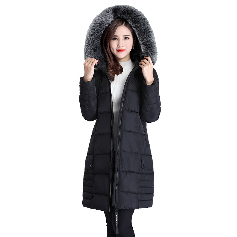 Parkas   Jacket for Women Plus size 3XL Down Jackets Women Winter Coat Long Slim Thicken Warm Jacket High quality Cotton Outwear