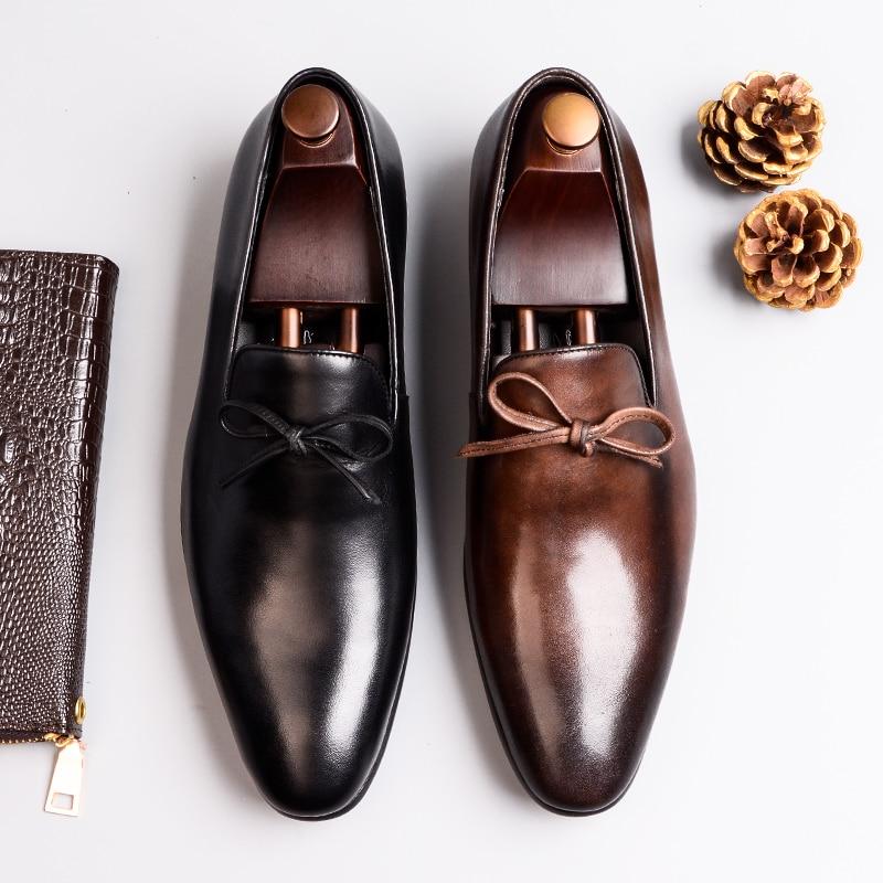 e487dfb3d51f99 Cheap Zapatos Hombre Zapatos formales para oxford de cuero genuino para  hombres negro 2019 Zapatos de