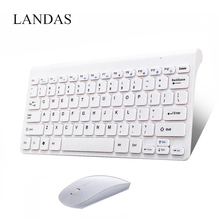 Landas Portable Wireless Mouse Keyboard Combo For Smart TV Desktop Computer And  Samsung Win XP 7 8