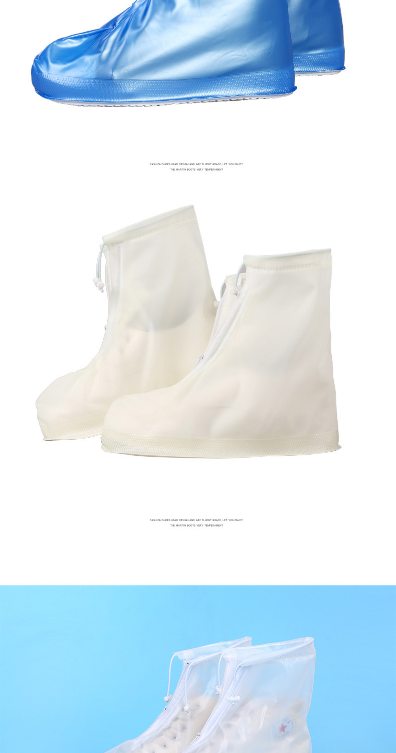 18 Newest Reusable Unisex Waterproof Protector Shoes Boot Cover Rain Shoe Covers High-Top Anti-Slip Shoe Cover 9