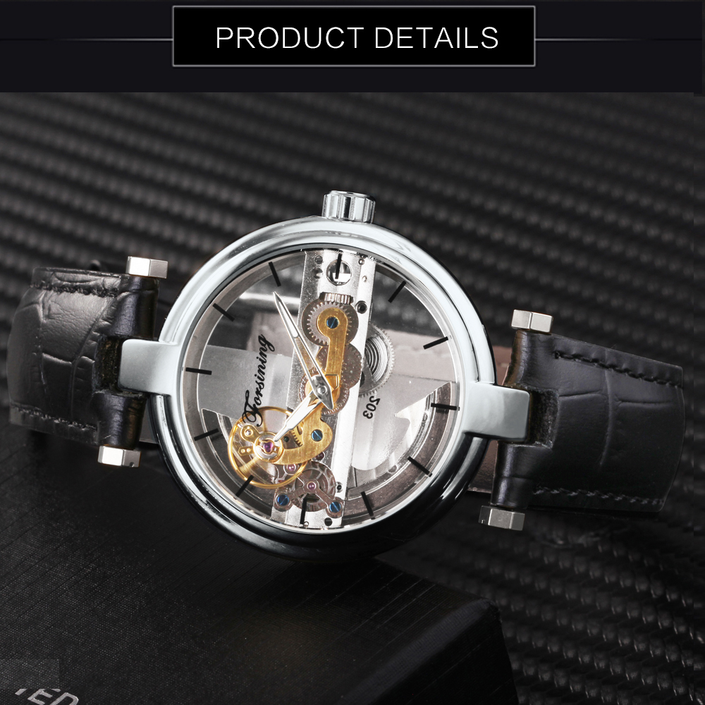 Forsining ponte de ouro relógio masculino marca