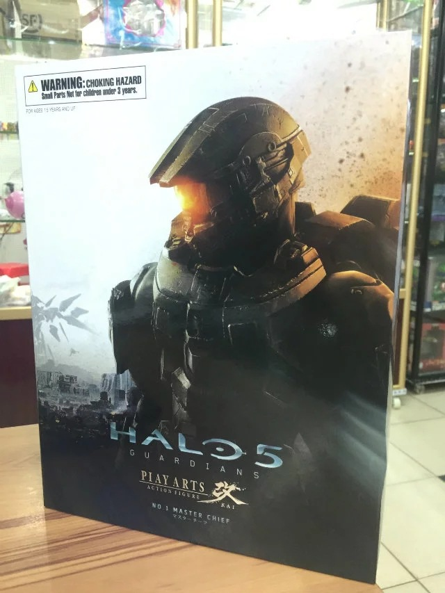 New Square Enix Play Arts Kai Classic Sci-Fi Game HALO 5 Guardians NO.1 Master Chief 26cm Action Figure Toys