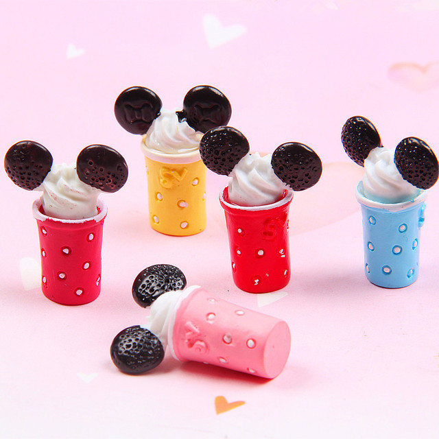 5Pcs Slime Charms Cute Ice Cream Cone Slime Accessories
