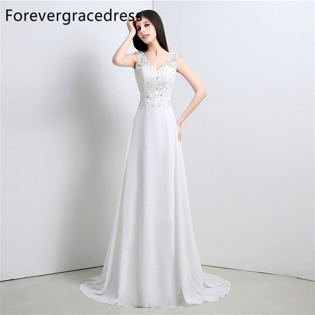 Cowl Back Bridesmaid Dress: Forevergracedress High Quality Wedding Dress V Neck