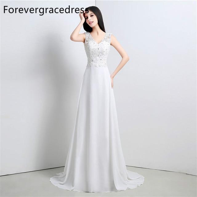 Cowl Neck Bridal Dress: Forevergracedress High Quality Wedding Dress V Neck