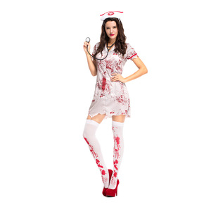 Image 2 - Women Adult  Bloody Zombie Hacker Nurse Halloween Costume