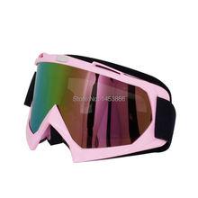 Pink Women's Motocross helmet Goggles Motorcycle Goggles Racing googles ski snowboard goggles off-road