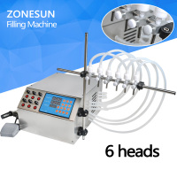 ZONESUN Electric Digital Control Pump Liquid Filling Machine 3 4000ml For Liquid Perfume Water Juice Essential