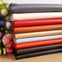 Buulqo Soft leather fabric sofa car interior leather waterproof leather material litchi artificial PU leather 50*145cm