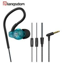 Фотография Langsdom Sport Waterproof Earphone Noise Reduction Anti Dropping Earbuds Stereo Bass 3.5mm In-Ear Earphone With HiFi Mic