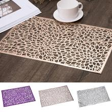 Hueco Rectangular de PVC mesa de comedor de aislamiento de calor antideslizante Mantel Individual para café y té vajilla mantel decoración de la cocina