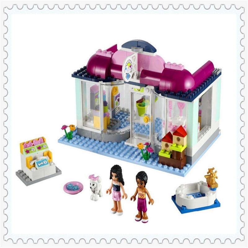 BELA 10171 Friends Series Heartlake Pet Salon Building Block 241Pcs DIY Educational  Toys For Children Compatible Legoe бра 10171 2b рђрісђрѕсђр°