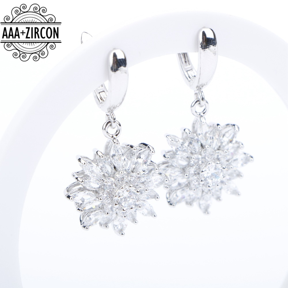 Image 3 - Natural White Zirconia Silver 925 Women Bridal Jewelry Sets Bracelets Rings Earrings With Stones Pendant&Necklace Set Gift Boxjewelry set 925jewelry setsset 925 -