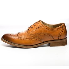 Full Grain Leather Men Oxford Shoes British Style Retro Carved Bullock Formal Dress 5#20D50